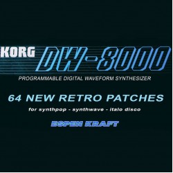 Korg DW-8000, 64 new retro patches for synthpop, synthwave, & italo disco ++